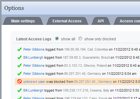 Advanced Access Management and Logging