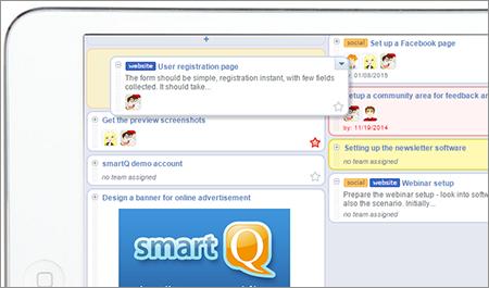 smartQ on iPad