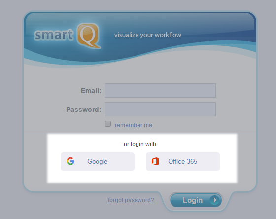 Google and Office 365 login