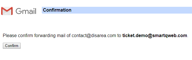 Gmail Confirmation