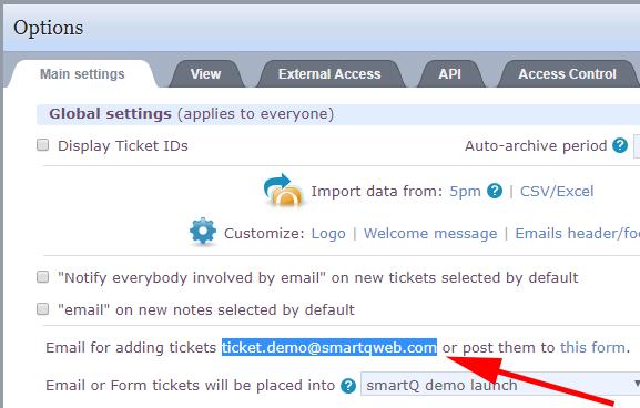 smartQ settings